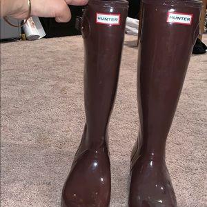 Maroon Hunter Boots
